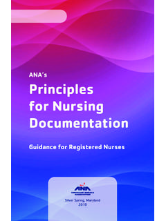 ANA's Principles for Nursing Documentation