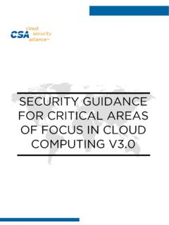 SECURITY GUIDANCE FOR CRITICAL AREAS OF …
