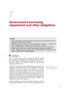 Government's borrowing requirement and other obligations
