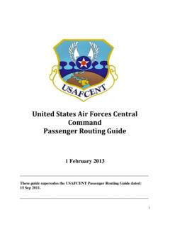United States Air Forces Central Command Passenger …