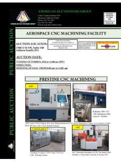 AEROSPACE CNC MACHINING FACILITY PUBLIC AUCTION