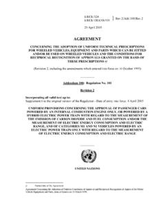 AGREEMENT - UNECE Homepage