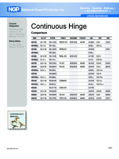 CROSS-REFERENCECROSS-REFERENCE Continuous Hinge