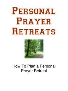 Personal Prayer Retreats - Prayer Today
