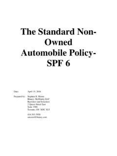 The Standard Non- Owned Automobile Policy- SPF 6