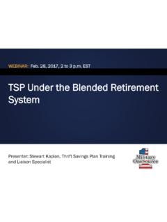 TSP Under the Blended Retirement System