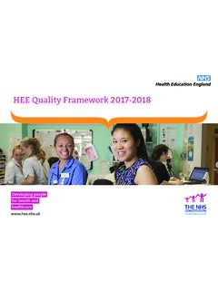 HEE Quality Framework 2017-2018 - Royal College of ...