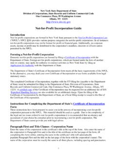 Not-for-Profit Incorporation Guide