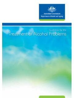 Guidelines for the Treatment of Alcohol Problems