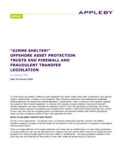 OFFSHORE ASSET PROTECTION TRUSTS AND …