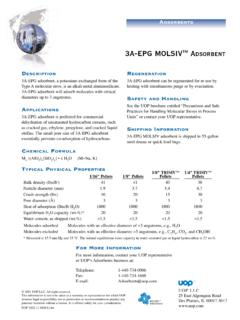 3A-EPG MOLSIV ADSORBENT - PSB Industries