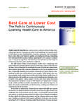 Best Care at Lower Cost - National-Academies.org