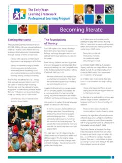 Becoming literate - Early Childhood Australia