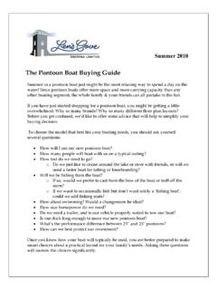 The Pontoon Boat Buying Guide - ARI