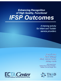 Enhancing Recognition of High Quality, Functional IFSP ...