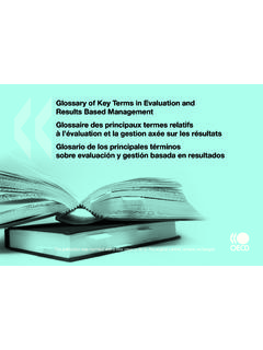 Glossary of Key Terms in Evaluation and Results …