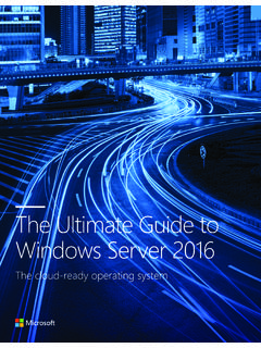 The Ultimate Guide to Windows Server 2016 - …