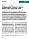 Sugar Content of Popular Sweetened Beverages …