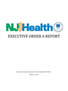 EXECUTIVE ORDER 6 REPORT - nj.gov