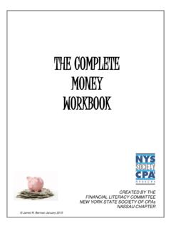 THE COMPLETE MONEY WORKBOOK - NYSSCPA