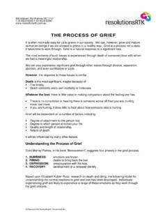 grief - the process - FedUni