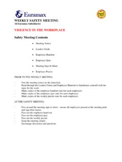 1 Violence in the Workplace Coversheet - …