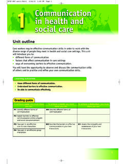 1 Communication in health and social care - Collins Education