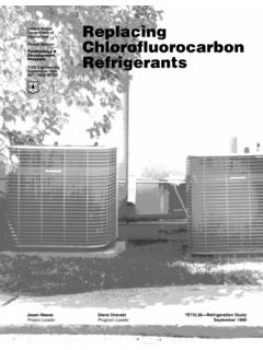 Replacing Chlorofluorocarbon Refrigerants - US …