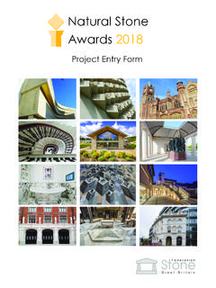 Natural Stone Awards 2018 - Stone Federation GB
