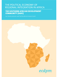 THE SOUTHERN AFRICAN DEVELOPMENT …
