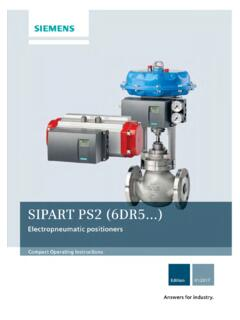 Siemens SIPART PS2 (6DR5) User Manual - lesman.com