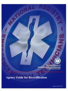 Agency Guide for Recertification - content.nremt.org