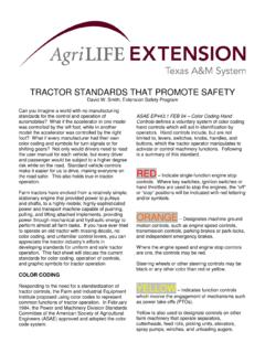 TRACTOR STANDARDS THAT PROMOTE SAFETY