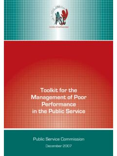 Toolkit for the Management of Poor Performance in the ...
