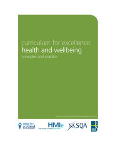 Health and wellbeing - Education Scotland