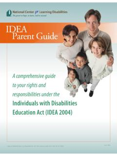 Individuals with Disabilities Education Act (IDEA 2004)