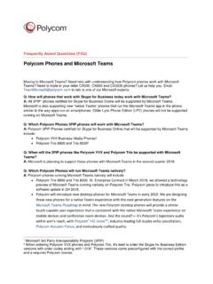 Polycom Phones and Microsoft Teams Frequently Asked …