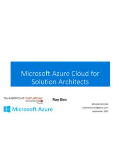 Microsoft Azure Cloud for Solution Architects - …