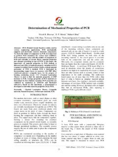 Determination of Mechanical Properties of PCB - IRD India