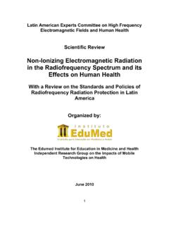 Non-Ionizing Electromagnetic Radiation in the ...