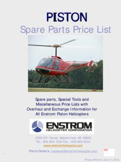 Spare Parts Price List - Enstrom Helicopter …