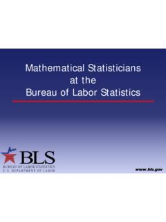 Mathematical Statisticians at the Bureau of Labor Statistics