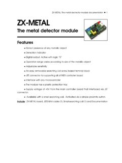 ZX-METAL: The metal dectector module documentation ZX …
