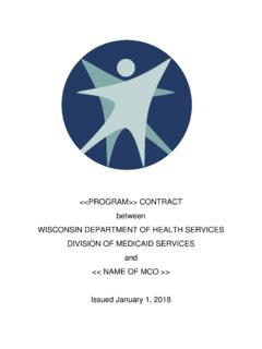 2019 Contract Between Department of Health Services and ...