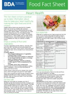 Food Fact Sheet - bda.uk.com