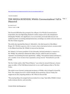 THE MEDIA BUSINESS; Whittle Communications' Fall …