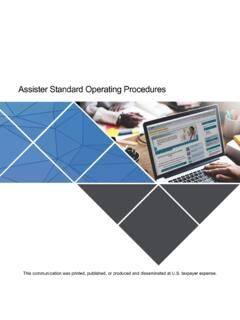 Assister Standard Operating Procedures - …