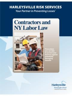 Contractors and NY Labor Law - Nationwide