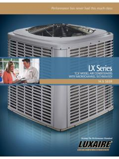 Luxaire LX Series 14.5 SEER Air Conditioners from Luxaire ...