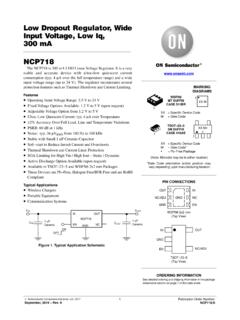 NCP718 - Low Dropout Regulator, Wide Input Voltage, Low Iq ...